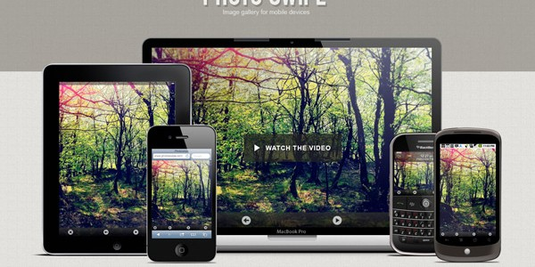 Image gallery per mobile con PhotoSwipe