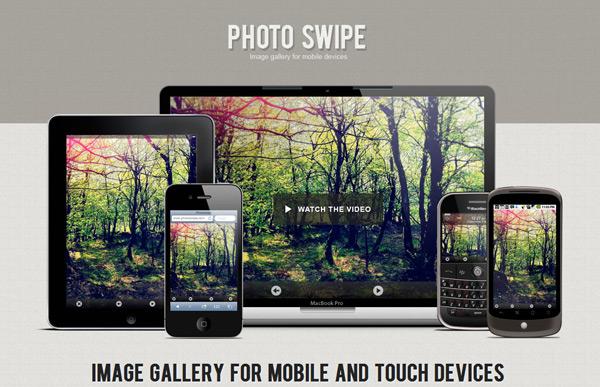 Image gallery per mobile con PhotoSwipe