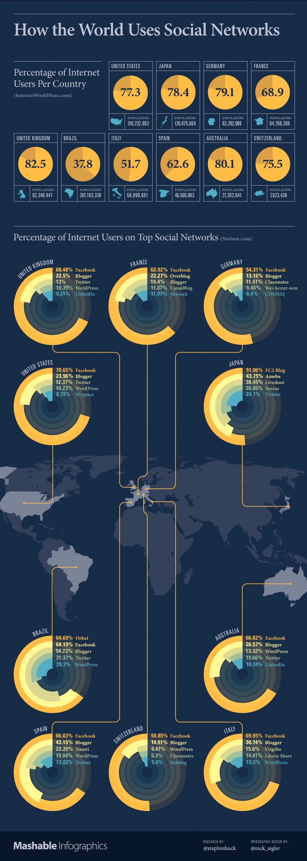 Utilizzo dei Social Network nel 2011