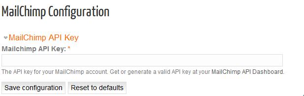 Mailchimp Configuration