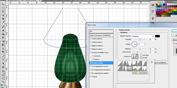Tutoria Photoshop - Disegnare una lampada