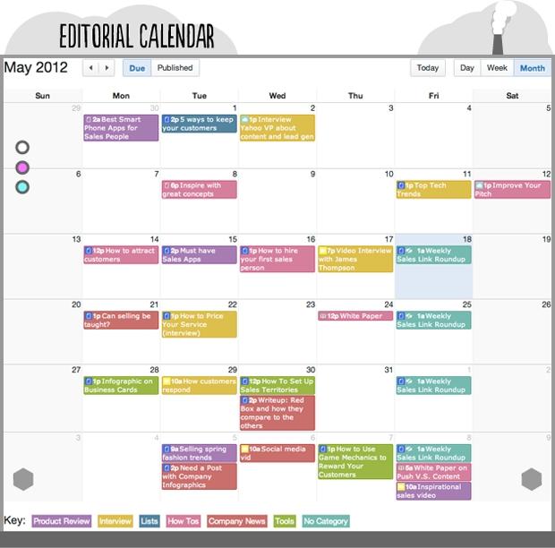 Organization Training Calendar : Content marketing guida alla creazione di contenuti