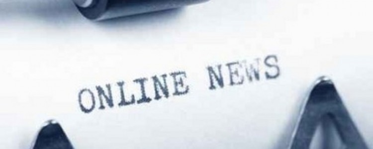 Typewriter close up shot, concept of Online News