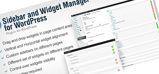 Sidebar Widget Manager WordPress