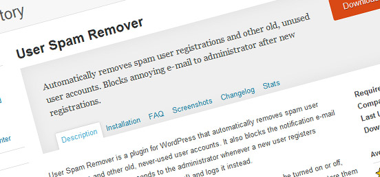 User Spam Remover