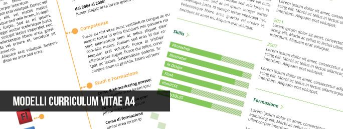 Curriculum Vitae: modelli gratuiti – A4 Vettoriali