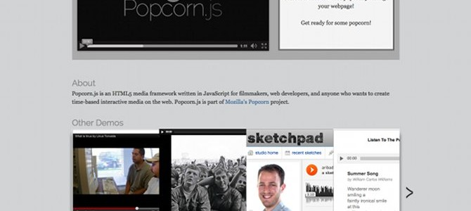 Popcorn.js - The HTML5 Media Framework