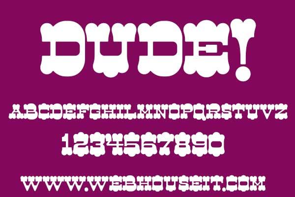 dude free font