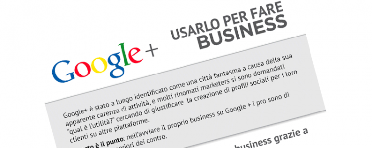 Google Plus for Business Infografica