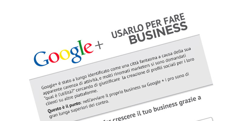 [Infografica]: Perché Google+ serve per il Business