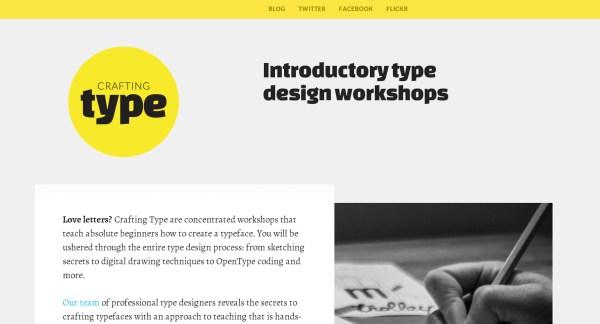 flat design typography