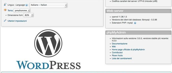 phpmyadmin-wordpress