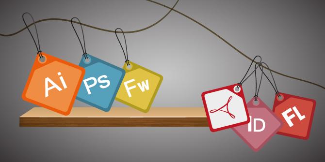Flat Design, 15 icone Adobe per la tua professione