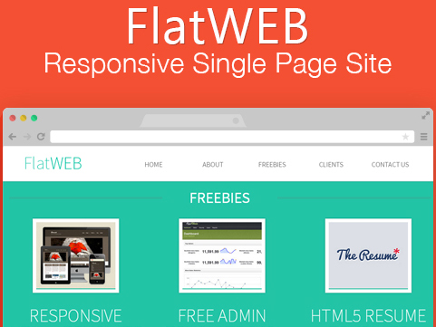 Flat Web Template