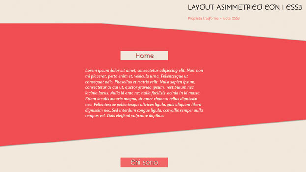 Come Realizzare un Layout Diagonale con i CSS3