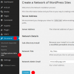 installazione wordpress multisite