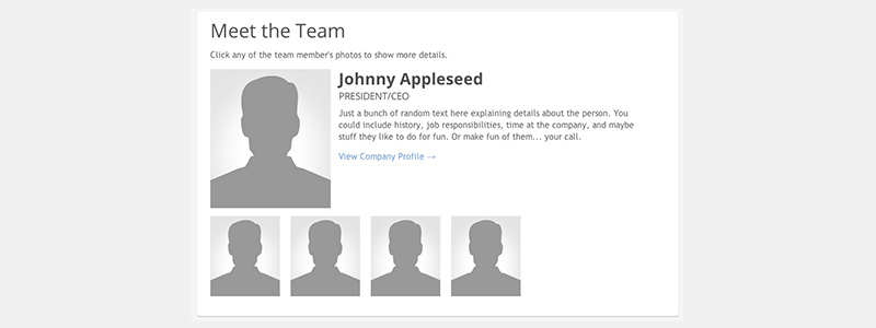 Building a Company Team Page with Dynamic Content