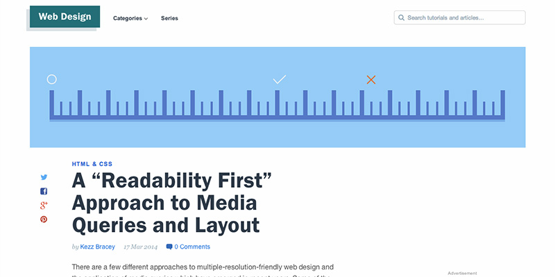 A Readability First Approach to Media Queries and Layout
