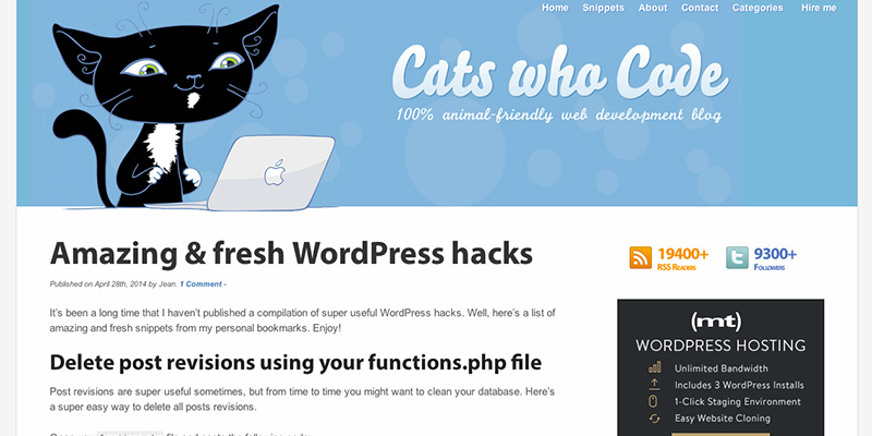 Amazing fresh WordPress hacks