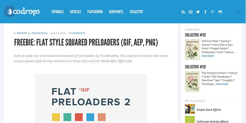 Freebie Flat Style Squared Preloaders
