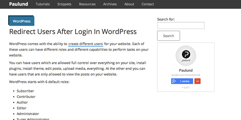 Redirect Users After Login In WordPress