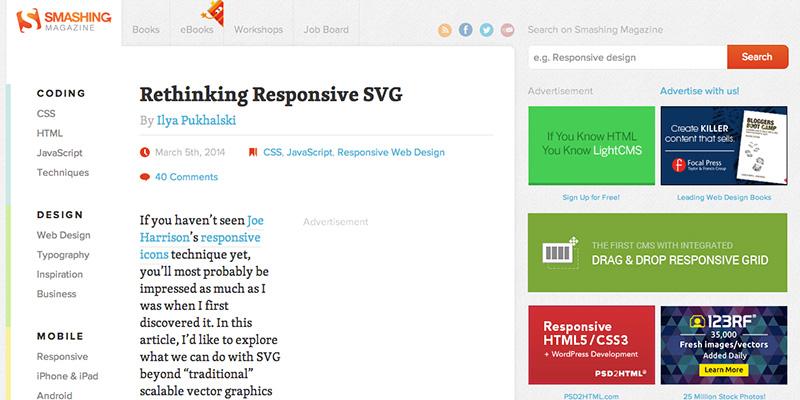 Rethinking Responsive SVG