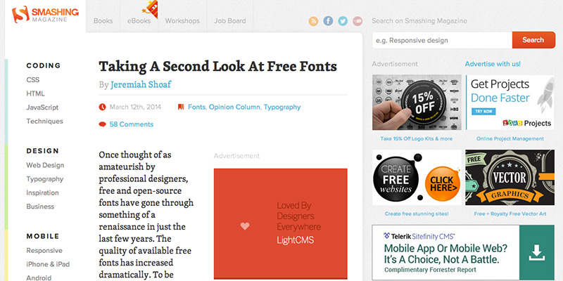 Taking A Second Look At Free Fonts