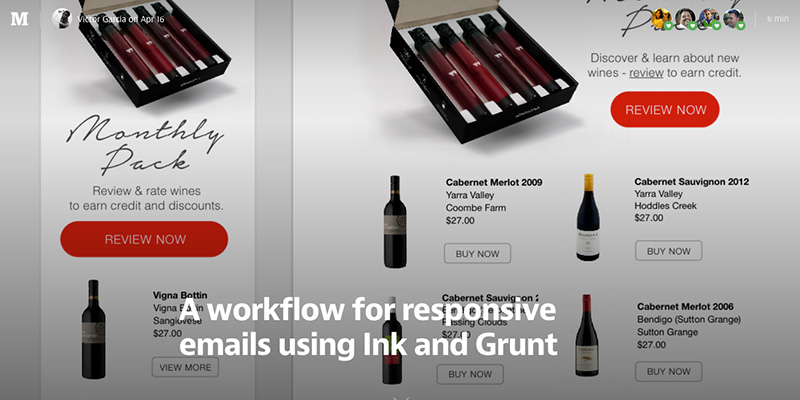A workflow for responsive emails using Ink and Grunt