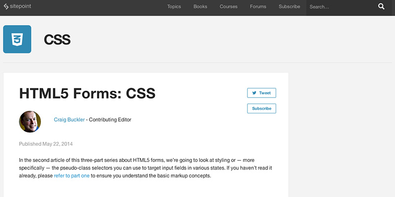 HTML5 Forms CSS