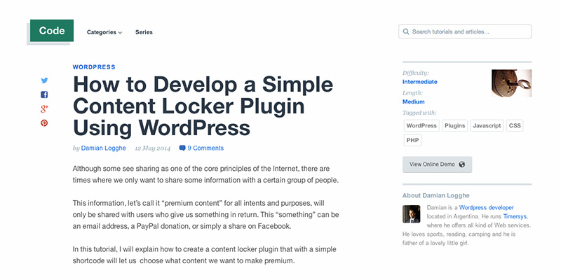 How to Develop a Simple Content Locker Plugin Using WordPress