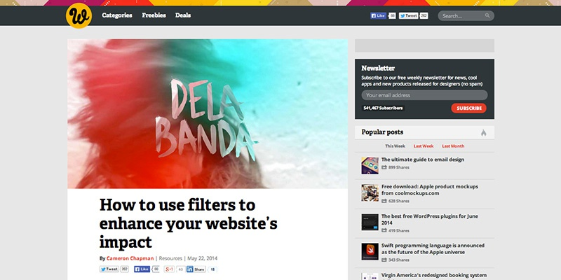 How to use filters to enhance your websites impact