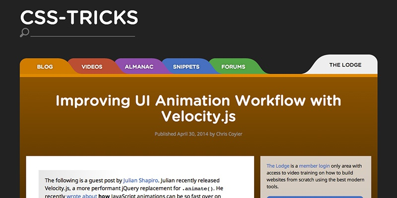 Improving UI Animation Workflow with Velocity.js