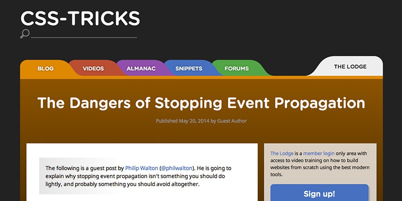 The Dangers of Stopping Event Propagation