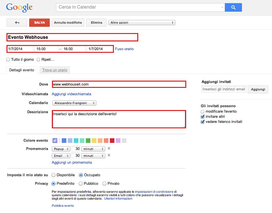 Calendario Per Sito Web.Come Usare Google Calendar Per Fare Email Marketing