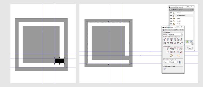 taglio dell'oggetto su Inkscape