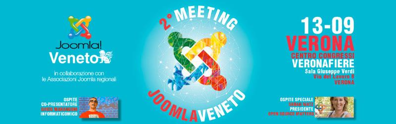 La seconda edizione del Meeting JoomlaVeneto il 13 Settembre a Verona