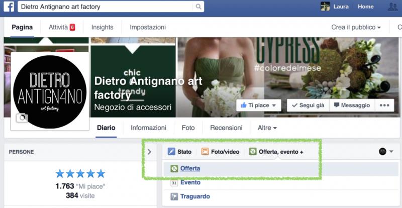 """""""Offerte"""" di Facebook"""
