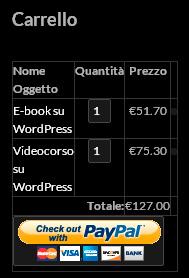 E-commerce con WordPress: il widget del carrello