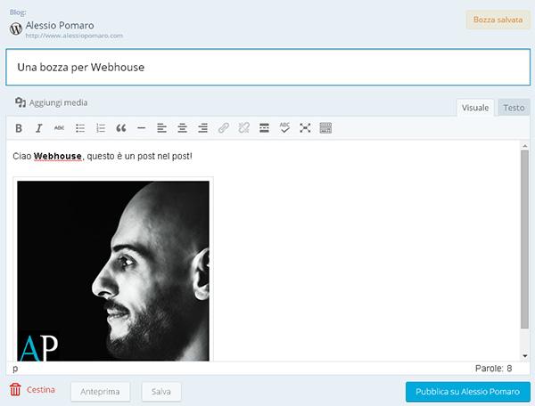 Jetpack Site Management: pubblicazione di post e pagine