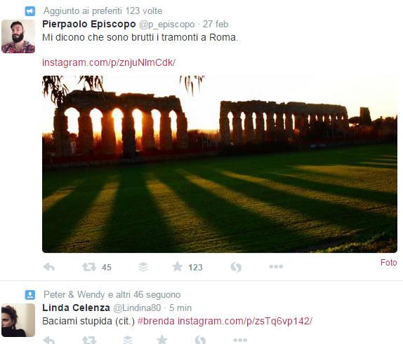 pubblicare foto instagram su Twitter