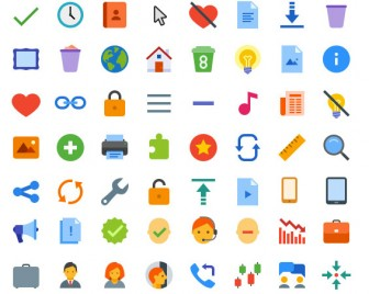 300+-Flat-Color-Icons