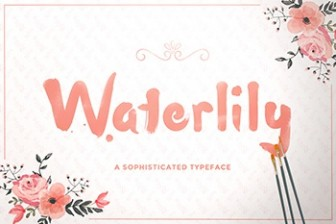 Waterlily-free-font