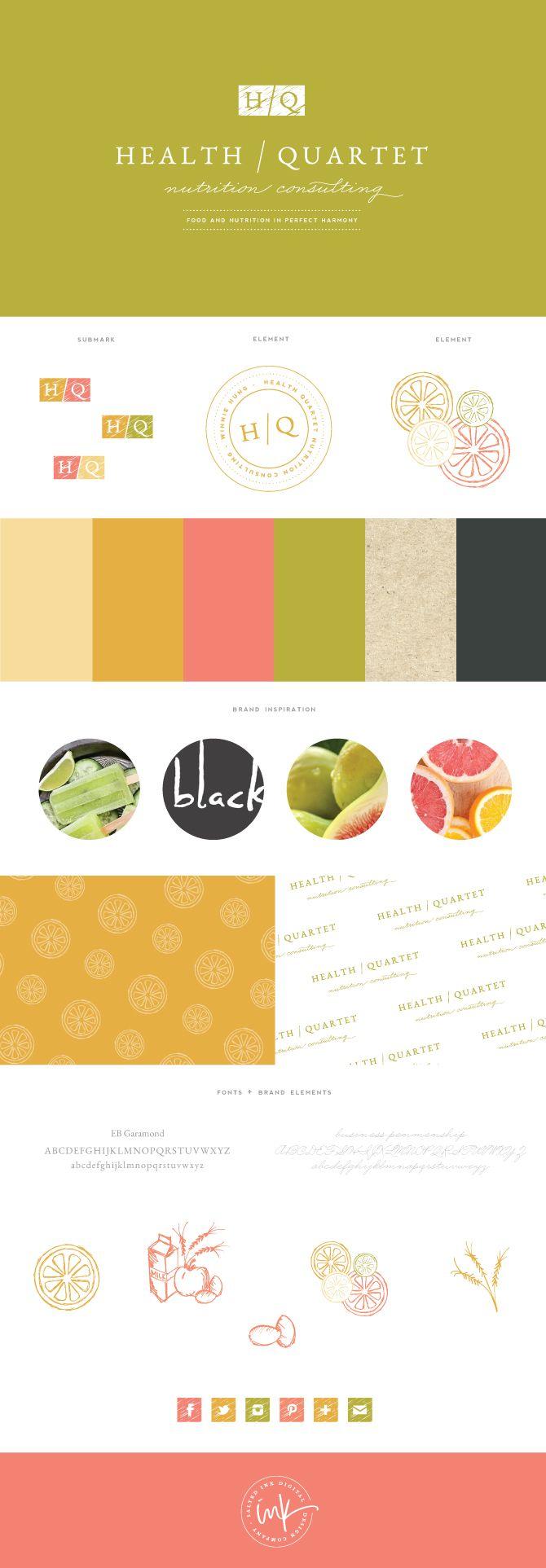 Mood board per un brand che si occupa di nutrizione e benessere