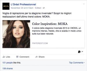 L'Oréal e i suoi consigli.