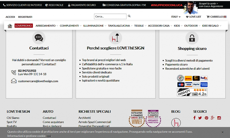 sicurezza ecommerce homepage