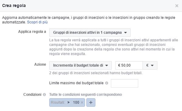 Regole automatizzate di facebook ads: come ottimizzare il budget