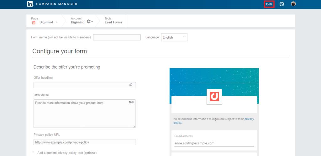 Una mini guida su come usare LinkedIn Lead Gen Forms