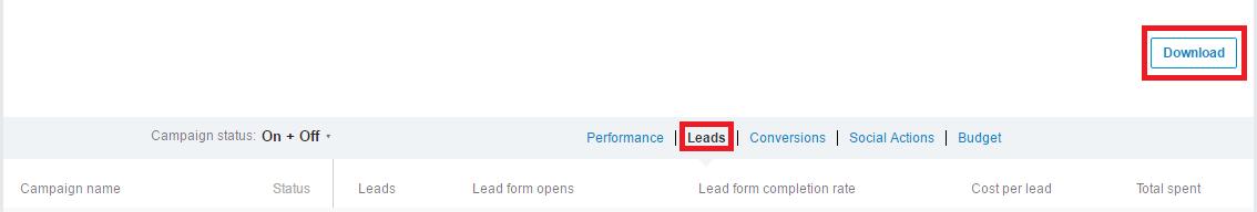 LinkedIn Lead Gen Form: metriche e KPIs