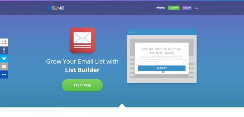sumo me costruire lista email