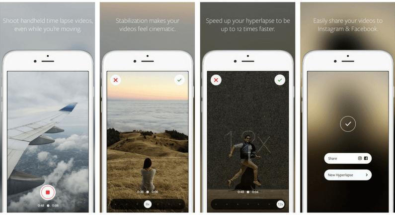 Hyperlapse - Instagram 3 applicazioni per creativi